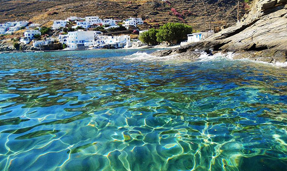 Azure waters of Tinos